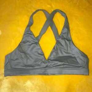 Victoria's Secret low support work out bra sage